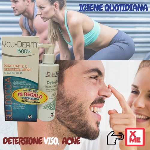immagine You•Derm Detergente Viso regala You•Derm Gel Doccia